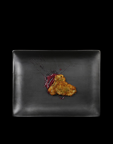 Cotolette di ostriche con salsa viola